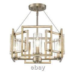 Golden Lighting Marco 4-Light White Gold Semi-Flush Mount