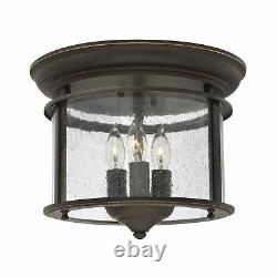 Hinkely Lighting Gentry Flush Mount Olde Bronze 3 x 40W E14 220-240v 50hz