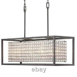 Home Decorators Collection Shimmer Collection 4-Light Graphite Island Chandelier