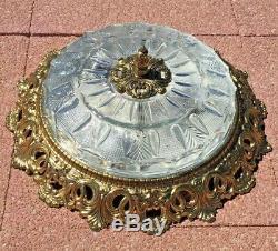 Impressive Plafon Flush Mount Ceiling Light, Brass/Crystal, French/Spanish, 43cm