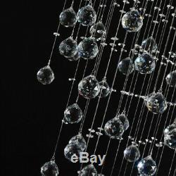 K9 Crystal Raindrop Chandelier Flush Mount Ceiling Lighting Fixture Pendant Lamp