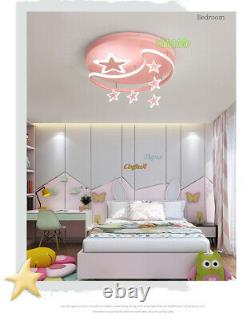 Kids Room LED Ceiling Lamp Girl Children's Bedroom Cartoon Star Chandelier Pink