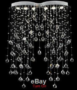 L80cm LED Crystal Ceiling Light Lighting Dining Room Lamp Rain Drop Chandeliers