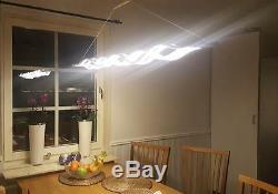 LED 120x8cm Modern Wave Design Dining Room Suspended Pendant Lighting