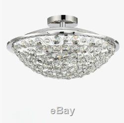 LED 15.7 Ceiling Lamp Crystal Bedroom Light Restaurant Flush Mounted Chandelier