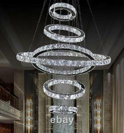 LED Crystal Duplex Chandelier Staircase Lighting Pendant Light Living Room Lamps
