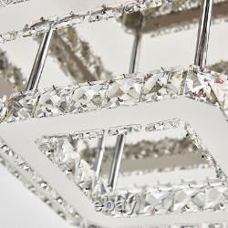 LED Flush MountLighting 70cm Crystal Ceiling Lamp Chandelier Living Dinner Light