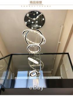 LED Lamp Crystal Chandelier Fixtures Luxury Lighting Staircase Pendant Lights