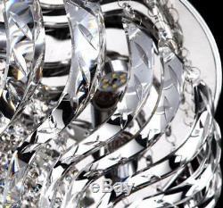 LED Modern K9 Clear Crystal Ceiling Pendant Lamp lobby Chandelier Lighting NEW