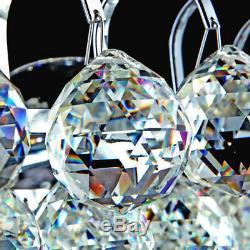 Large Light Flush Mount Ceiling Chandelier Full of Clear Crystal Balls Fixtures