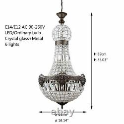 Led Crystal Modern Chandelier Charming Royal Empire Style Retro Vintage Lamp New