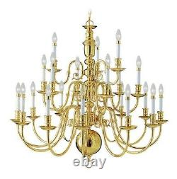 Livex Lighting 5321-02 21 Light 840W Gold Chandelier With Candelabra Bulb Base