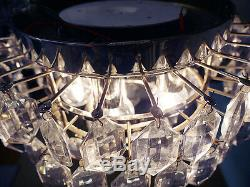 Lobmeyr FLUSH MOUNT Crystal Glass Ceiling Fixture by BAKALOWITS & SONS, Vienna