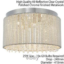 Low Ceiling Flush Light Chrome & Crystal ShadeModern Bar Cage Boutique Feature