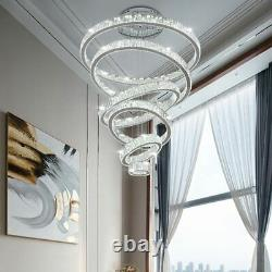 Luxury Living Room Modern Chandelier Lighting Large Staircase LED Crystal Lamps