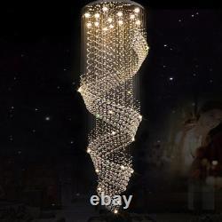 Manggic Modern Crystal Chandelier For Spiral Interior Design Ladder Luxury Corri