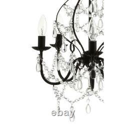 Maura 17 in. 5-Light Black Crystal/Metal Chandelier by JONATHAN Y