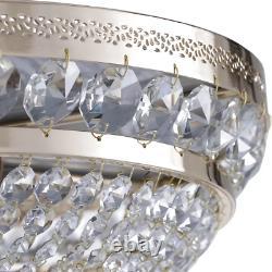 Maytoni Lighting 6 Light Ottilia Diamant Crystal Semi-Flush Mount Gold