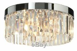 Milo Ligthing Crystal 5 Light Flush Ceiling Light