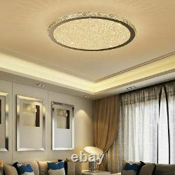 Minimal LED Crystal Glass Beads Round Entrance Porch Ceiling Lights Flush Mount