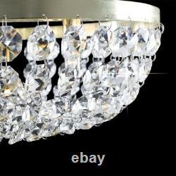 Minisun Iconic Palladium Gold Crystal Flush Mount Ceiling Light 23399