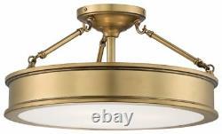 Minka Lavery 4177-249 Harbour Point 3-Light Semi Flush Mount Liberty Gold