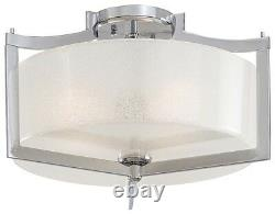 Minka Lavery 4397-77 Clarte 3-Light Semi Flush Ceiling Mount Chrome