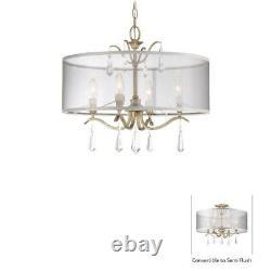 Minka Lavery 4443-582 Laurel Estate 4-Light Semi Flush Mount Brio Gold