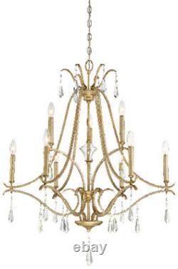 Minka Lavery 4449-582 Laurel Estate 9-Light 2-Tier Chandelier Brio Gold
