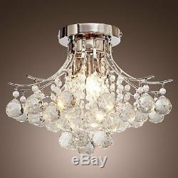 Modern Bubble Raindrop Crystal Chandelier Pendant Lighting Flush Mount Ceiling