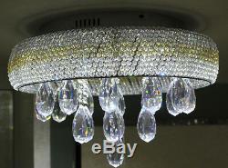 Modern Chrome K9 Crystal Chandelier Ceiling Light Ceiling Lamp Flush Mount