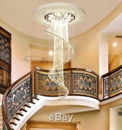 Modern Creative Flush Mount K9 Crystal Chandelier LED Ceiling Light Fixture 6005
