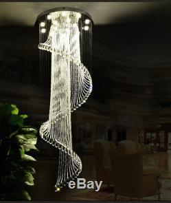 Modern Creative Flush Mount K9 Crystal Chandelier LED Ceiling Light Fixture 6712