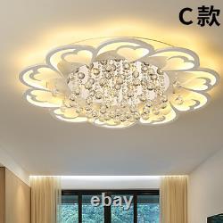 Modern Crystal Chandelier Acrylic Flower Lighting Flush Mount Ceiling Fixture