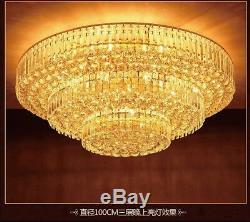 Modern Fashion round chandeliers LED Flush Mount K9 crystal ceiling lamp #0073