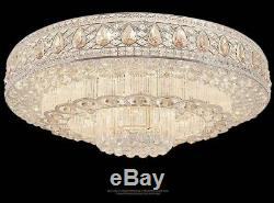 Modern Fashion round chandeliers LED Flush Mount K9 crystal ceiling lamps #0083