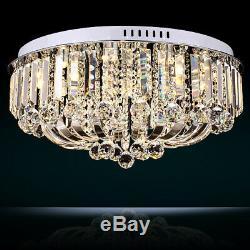 Modern Flush Mount Design LED Fixture 15-Light Crystal Living Room Ceiling Light
