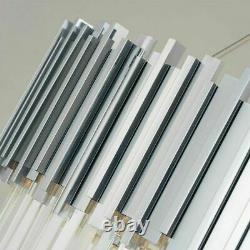 Modern Silver Gold Chandelier Light Polished Steel Crystal Lamp Luxury Pendant