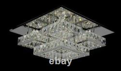 Multi box Crystal Ceiling Light Simple LED Living Room Flush Mount Spotlight