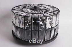 NIB Pottery Barn Adeline crystal flushmount ceiling light 12.5 diameter small