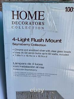 New Home Decorators Collection 4 Light Flush Mount Saynsberry Chandelier