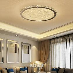 Nordic Style Crystal Glass Beads LED Chrome Ceiling Light Flush Mount 35/45/60CM