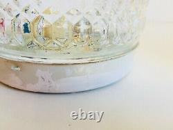 PAIR 6 Round BUBBLE Glass Flush Mount Antique Ceiling Wall Porch Light
