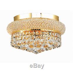 Palace Bagel 12 4 Light Crystal Chandelier Flush Mount Ceiling Light Gold