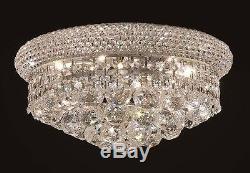 Palace Bagel 14 6 Light Crystal Chandelier Crystal Flush Mount Light Chrome