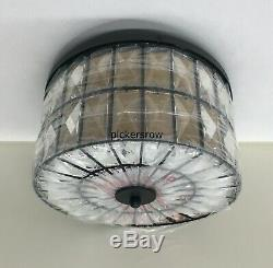 Pottery Barn Adeline Crystal Round SMALL 12.5 FlushmountAntique BronzeNew