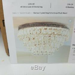 Pottery Barn CLARISSA CRYSTAL DROP EXTRA-LARGE FLUSH MOUNT