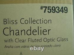 Progress Lighting Bliss 3-Light Antique Bronze Vintage Clear Glass Chandelier