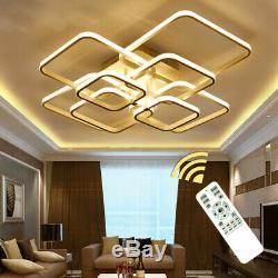 Rectangle Ceiling Light Led Lamp Modern Living Room Bedroom Aluminum Chandelier
