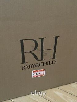 Restoration Hardware Baby & Child Arora Crystal Flushmount Aged Pewter Light